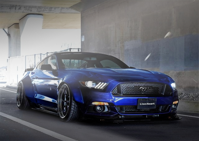 FRONT EXTERIOR 7TH GEN MUSTANG BLUE