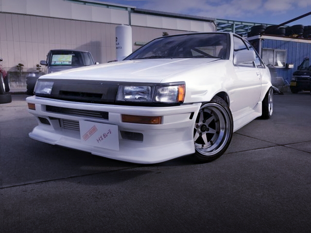 FRONT EXTERIOR AE86 LEVIN WHITE