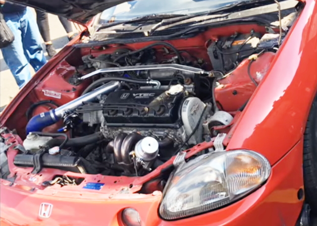 CRX DELSOL ENGINE ROOM