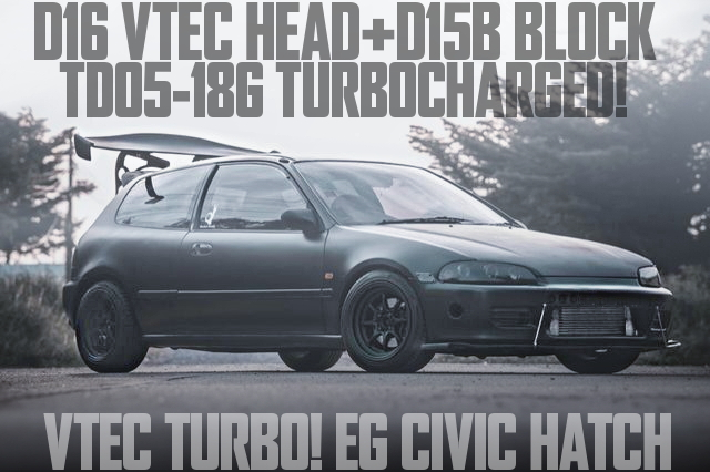 D15B VTEC TURBO ENGINE EG CIVIC HATCH