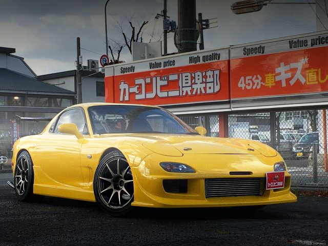 FRONT EXTERIOR FD3S MAZDA RX-7 YELLOW