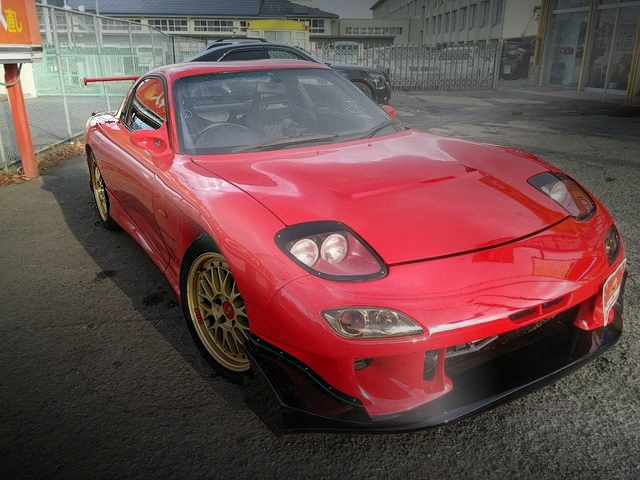 FRONT EXTERIOR FD3S RX-7 RED