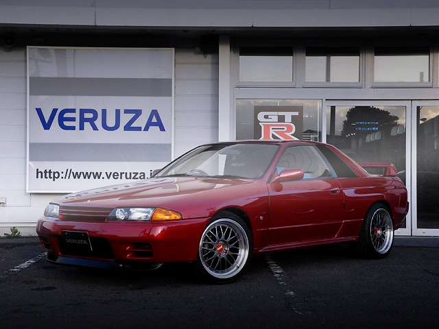 FRONT EXTERIOR WINE-RED R32 SKYLINE GT-R