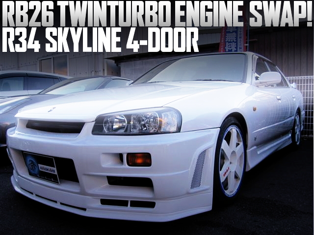 R34 SKYLINE 4-DOOR RB26 SWAP