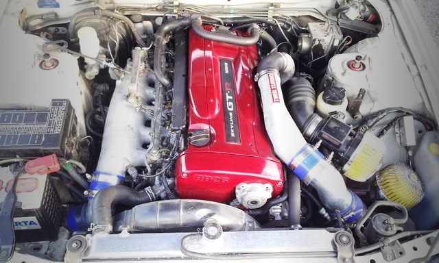 RB26 TWINTURBO ENGINE RED VALVE COVER