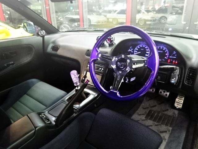 INTERIOR STEERING PURPLE