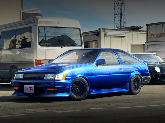 FRONT EXTERIOR AE86 LEVIN BLUE