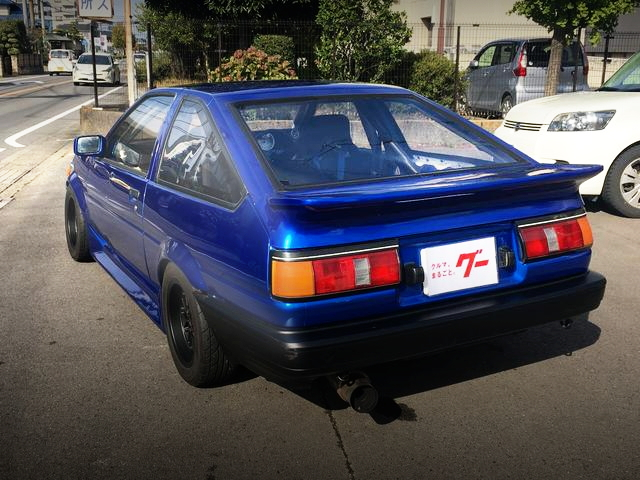 REAR EXTERIOR AE86 LEVIN BLUE