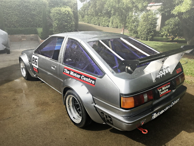 REAR EXTERIOR AE86 TRUENO WIDEBODY SILVER