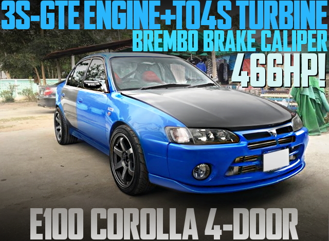 3S-GTE ENGINE TO4S TURBO E100 COROLLA 4-DOOR