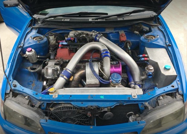 3S-GTE TURBO ENGINE TO4S TURBOCHARGED