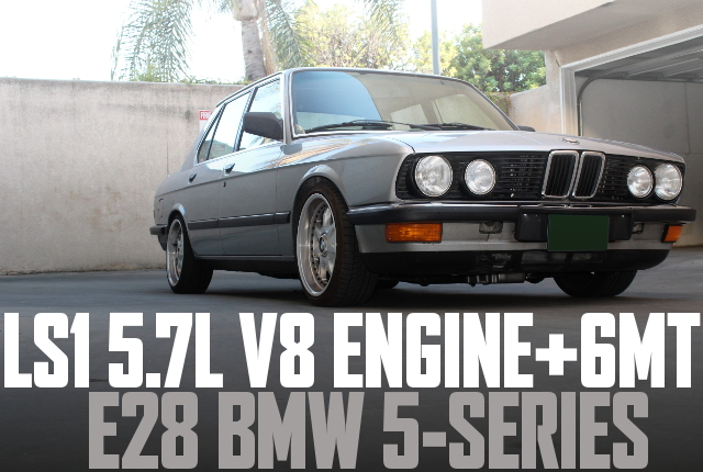 LS1 V8 ENGINE E28 BMW 5-SERIES
