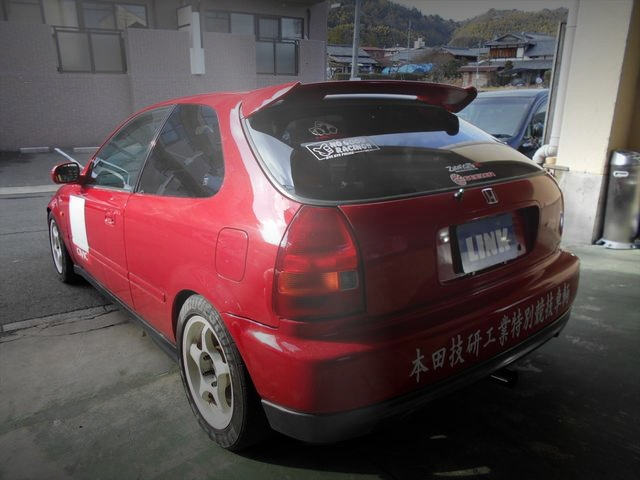 REAR EXTERIOR EK4 CIVIC SiR
