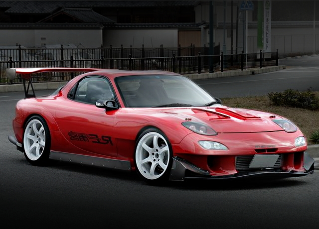 FRONT EXTERIOR RE-AMEMIYA WIDE FD RX-7 RED