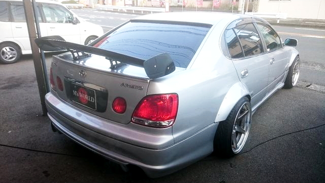 REAR EXTERIOR JZS161 ARIST WIDEBODY SILVER