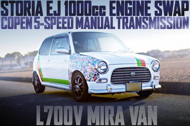EJ 1000cc ENGINE SWAP L700V MIRA VAN