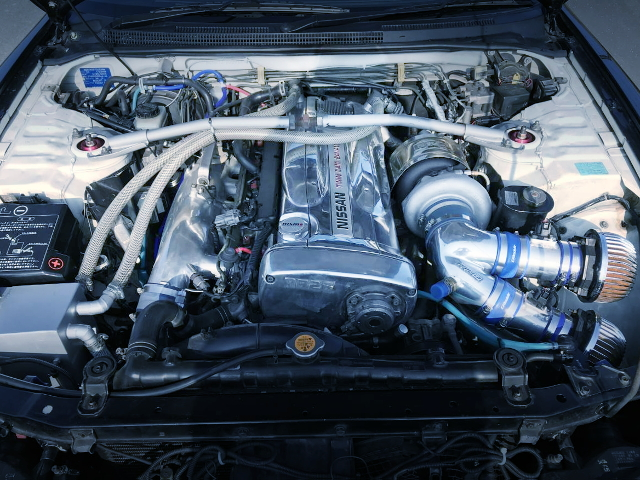 RB26 ENGINE WITH TO4R TURBOCHARGER