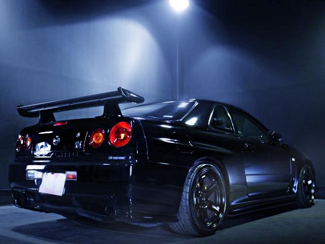REAR EXTERIOR R34 SKYLINE GT-R BLACK