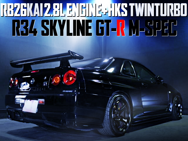 RB26 2800cc HKS TWINTURBO R34GTR M-SPEC