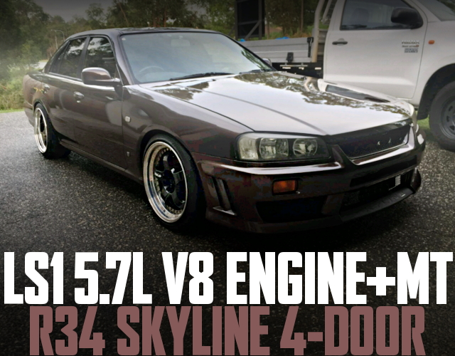 LS1 5700cc V8 ENGINE R34 SKYLINE 4-DOOR