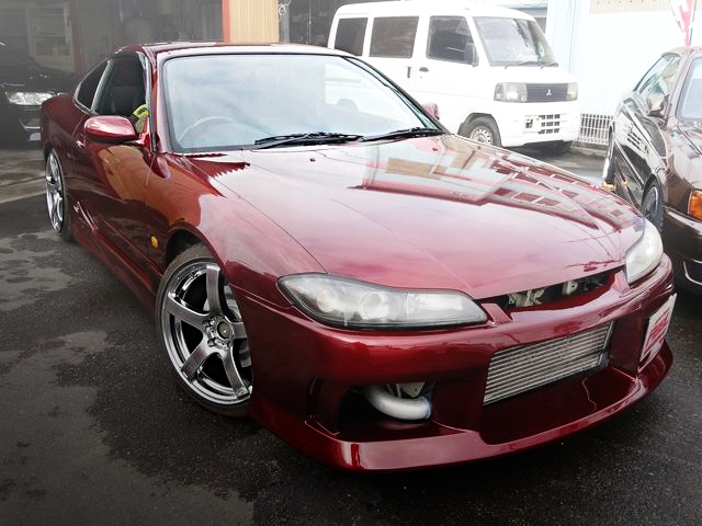 FRONT EXTERIOR S15 SILVIA SPEC-S WINE RED