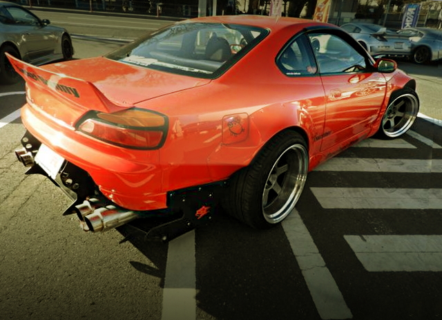 REAR EXTERIOR ROCKET BUNNY S15 SILVIA ORANGE