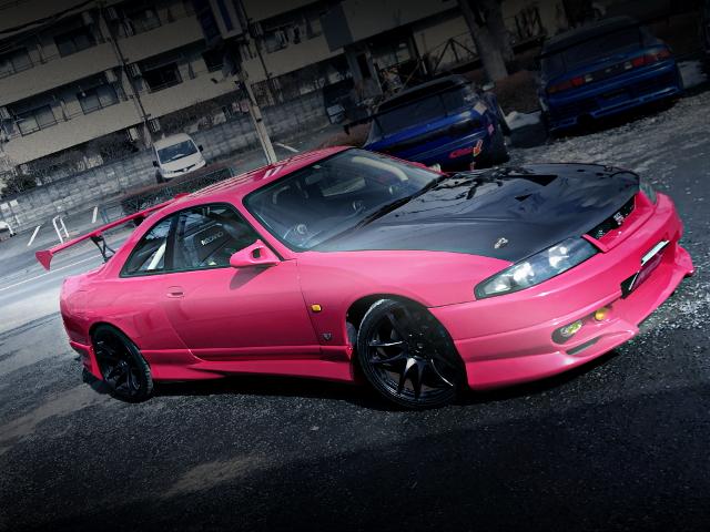 FRONT EXTERIOR R33 SKYLINE GT-R PINK
