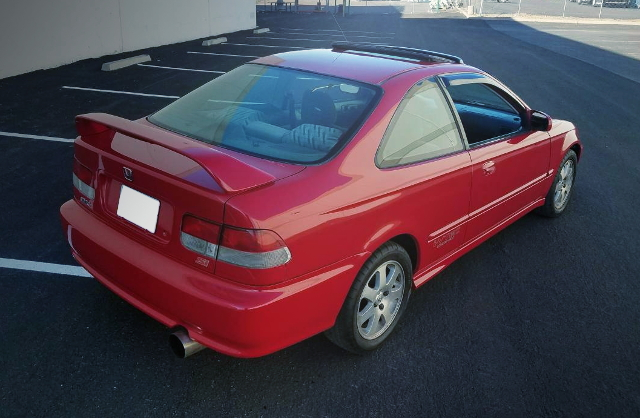 REAR EXTERIOR EM1 CIVIC COUPE RED