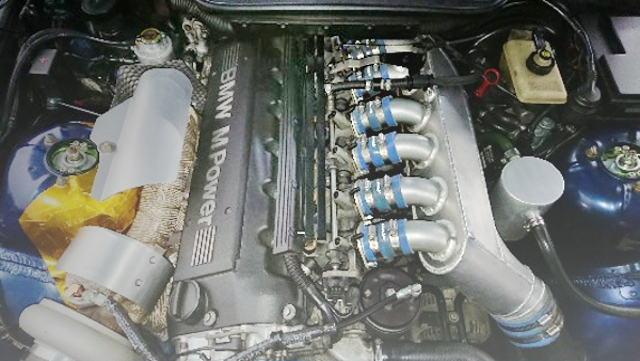 S50B30 ENGINE WITH TURBOCHARGED