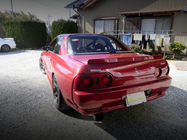 REAR EXTERIOR HCR32 SKYLINE WIDEBODY RED