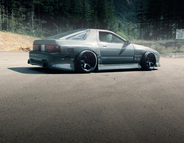 REAR SIDE EXTERIOR FC3S RX-7 GRAY