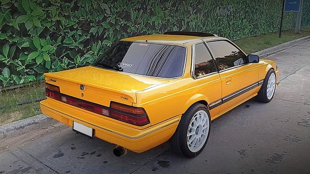 REAR EXTERIOR 2nd Gen PRELUDE YELLOW
