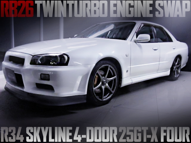 RB26 SWAP R34 SKYLINE 4-DOOR SEDAN