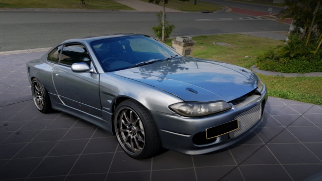 FRONT EXTERIOR S15 SILVIA SILVER WIDE