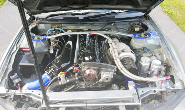 RB30DET ENGINE WITH TO4Z TURBOCHARGER