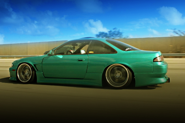 MOVING CAR OF S14 240SX WIDEBODY