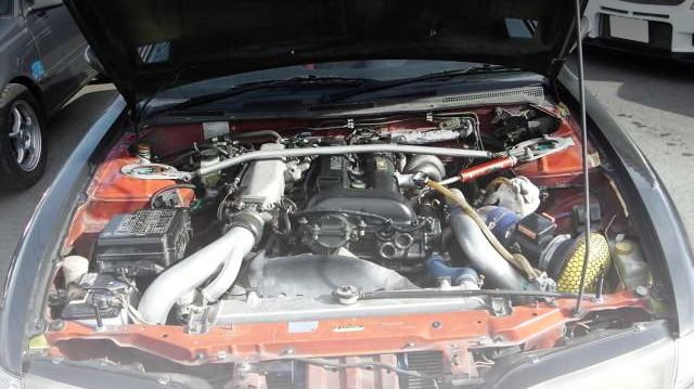 SR20DET TURBO ENGINE BLACK