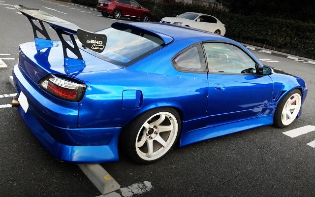 REAR EXTERIOR S15 SILVIA BLUE