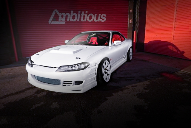 FRONT EXTERIOR S15 SILVIA WIDEBODY WHITE