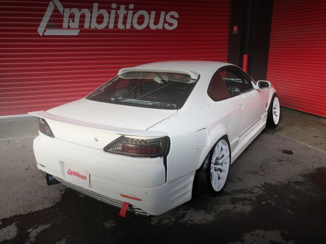 REAR EXTERIOR S15 SILVIA WIDEBODY WHITE