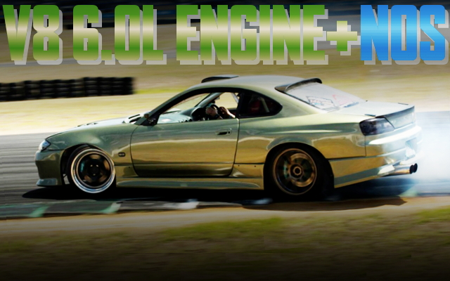 V8 ENGINE NOS S15 SILVIA DRIFT