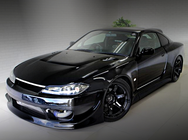 FRONT EXTERIOR S15 SILVIA WIDEBODY BLACK
