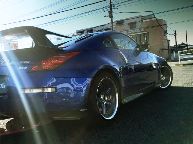 BACK SIDE EXTERIOR Z33 FAIRLADY-Z BLUE