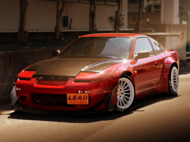 FRONT FACE ROCKET BUNNY 180SX RED