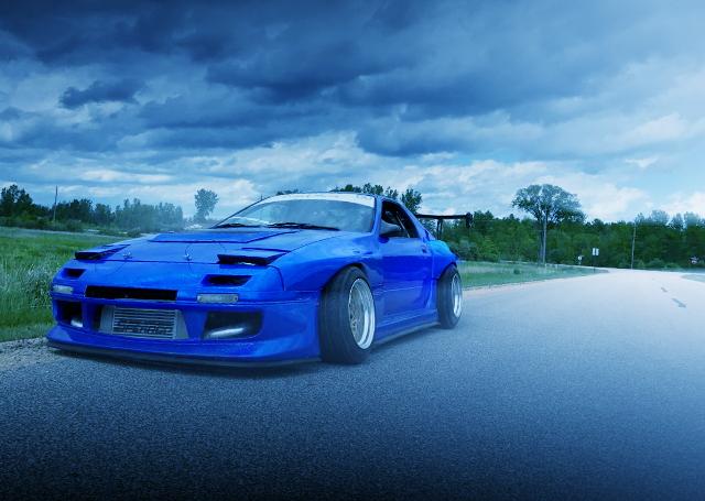 FRONT EXTERIOR FC3S RX-7 BLUE