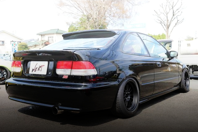 REAR EXTERIOR JDM CIVIC COUPE BLACK