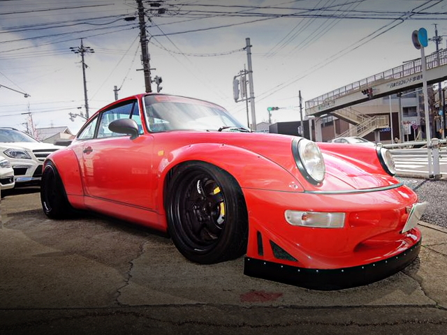 FRONT FACE OF 964 PORSCHE 911GT-2STYLE WIDEBODY