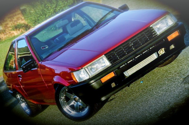 FRONT FACE AE86 LEVIN RED