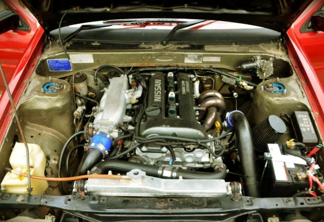 SR20DET TUEBO ENGINE BLACK-TOP