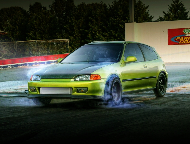 EG CIVIC DRAG RACE PICTURE